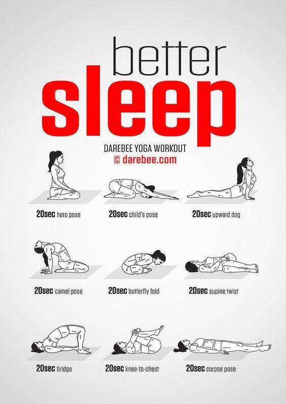 9 postures, asanas, de yoga pour mieux dormir